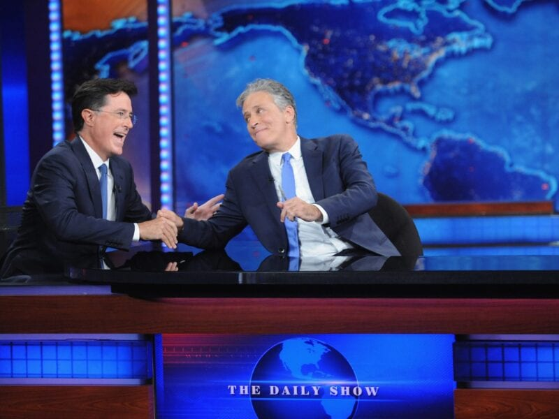 Former 'The Daily Show' host Jon Stewart made an appearance on Stephen Colbert's 'The Late Show' to celebrate science, or to slander science? You be the judge.