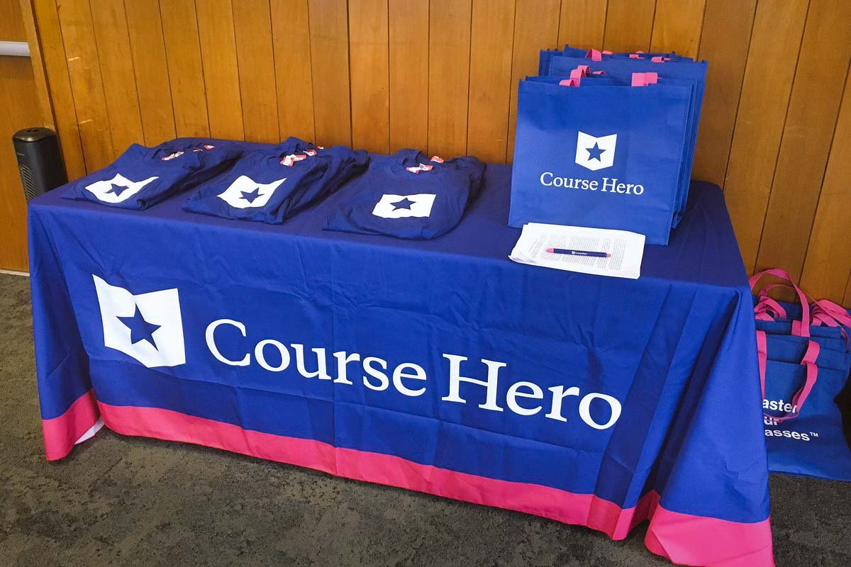 Table covers with logos are an increasingly popular option for trade shows. Learn more about the covers here.
