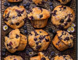 Are you looking for a sweet yet unique breakfast? Try a blueberry muffins recipe like no other beneath a sky painted in the tone of an orange smoothie.