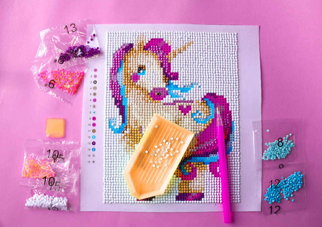 Diamond painting is the new crafting trend taking the world by storm. Involve your whole family in this fun activity with these kid-approved kits.