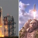 Today's rocket launch of Jeff Bezos' Blue Origin has many people thinking of 'Austin Powers'. Laugh at the best jokes on Twitter.