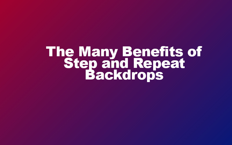 Step and repeat backdrops are very useful to promote the business of your choice. Discover how to use a step and repeat backdrop here.