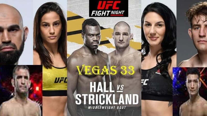 It's time for UFC Night. Find out how to live stream the match between Strickland and Hall online for free.