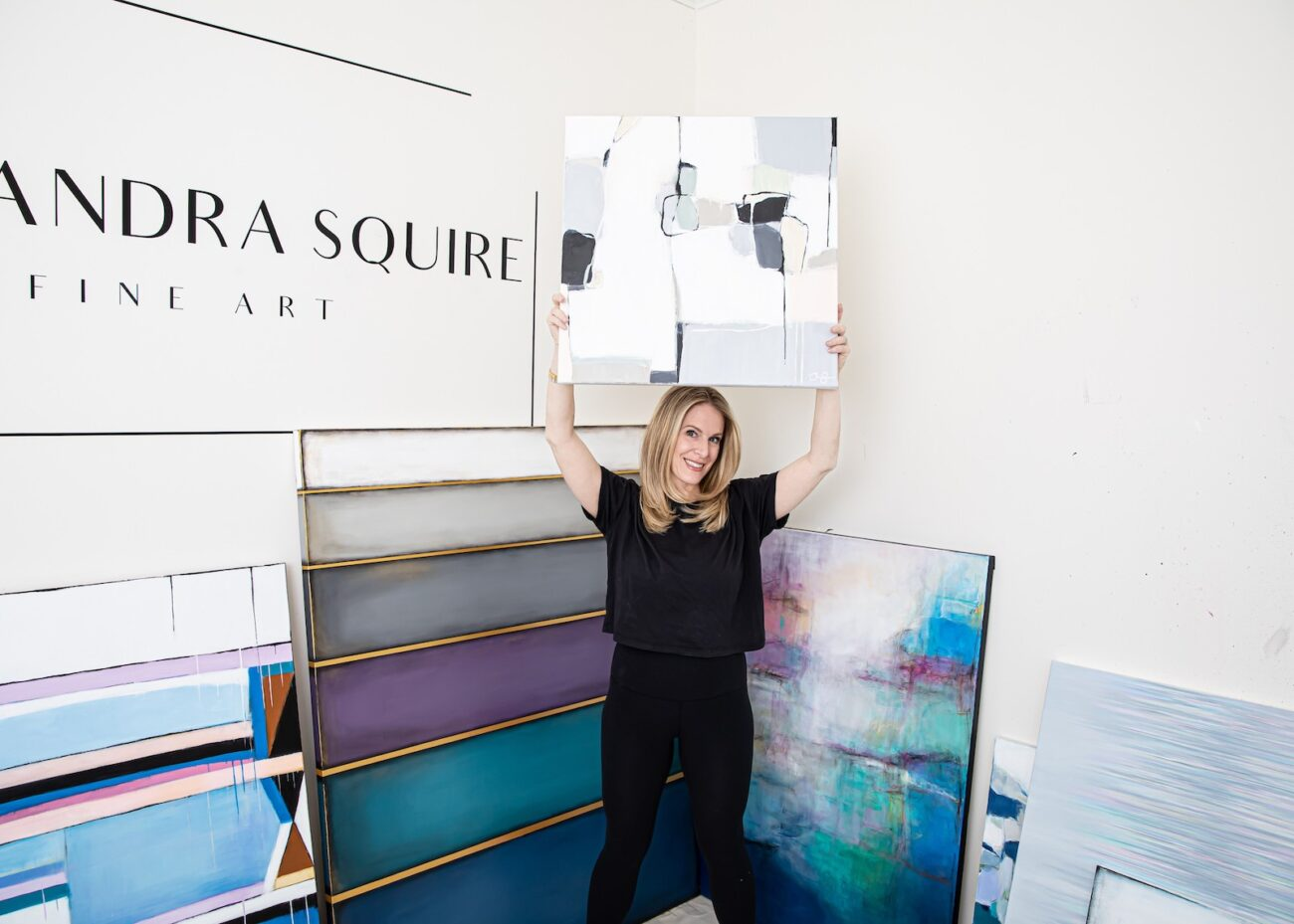 Most people find abstract art to be an enigma. Alexandra Squire has harvested this art form and made it her own. Inspire yourself and follow her journey.