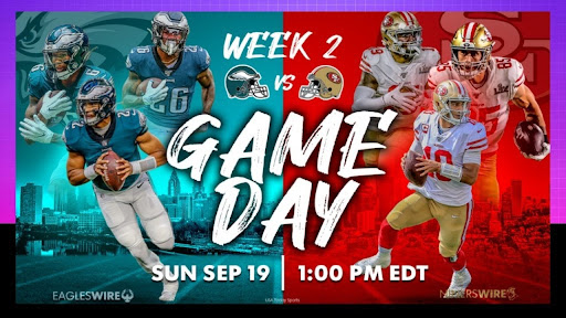 Don't miss a single second of this game at '49ers vs. Eagles' on September 19, 2021! including how to watch NFL week 2 game live stream for free on Reddit!