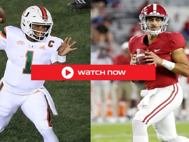 One of the biggest matchups 2021 of Week 1 will take place in Atlanta, where No. 1 Alabama vs Miami Live Stream free on reddit online.