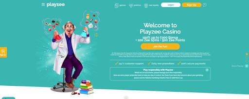 The Playzee homepage.
