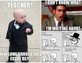 Stop procrastinating on that essay that's due tomorrow! But first, laugh at these relatable memes and discover why writing is less painful than you think.