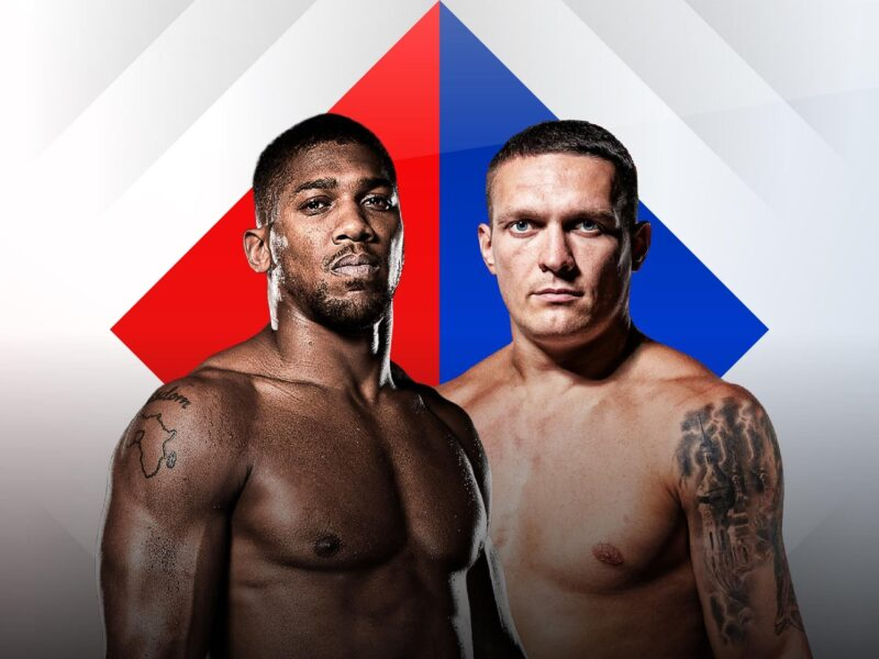You can watch Anthony Joshua vs Oleksandr Usyk live stream on DAZN. The date is Sunday, September 26. The time is 3:00 am.
