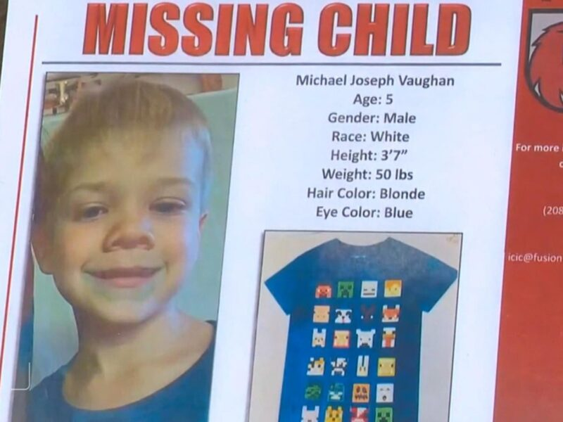The missing kid in Idaho Michael Vaughan has yet to be found. Learn about the latest details in the case.