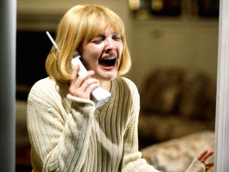 From the shocking death of Drew Barrymore's character in 'Scream'. Peek at these horrific scenes in horror movies.