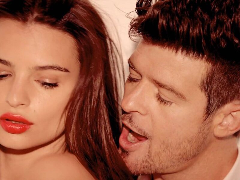 Supermodel Emily Ratajkowski revealed that Robin Thicke sexually harassed her in 2013. Read how he groped the model while she was topless for a music video.
