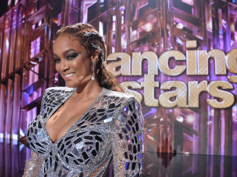 """ABC's """"Dancing with the Stars"""" has been off to a hot start. But what's the deal with host Tyra Banks and her fashion choices? Ballroom blitz."""